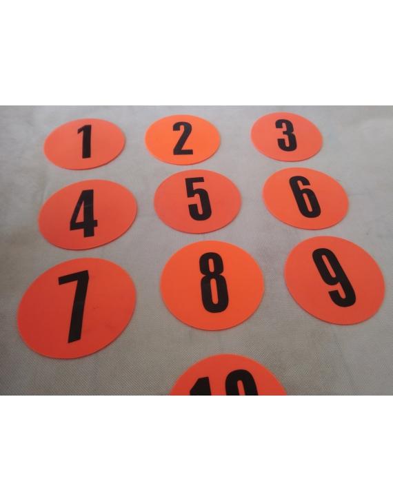 Znaczniki pola płaskie numerowane 1-10